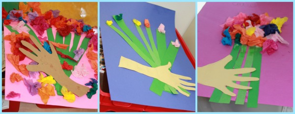 construction paper flowers for mom