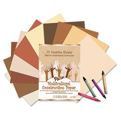 multicultural skin colored construction paper