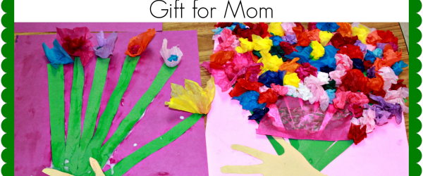 Homemade Mothers Day Gift Idea Tissue Paper Flower Bouquet Craft